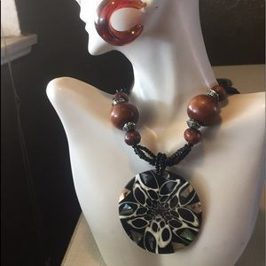 Stunning NATURAL Abalone shell cone beads SET